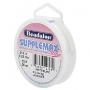 Beadalon Schmuckdraht Supplemax Ultra 0.25mm 25 meter White
