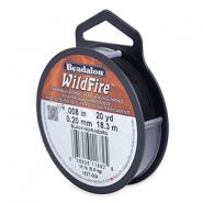 Beadalon Wildfire Wire 0.20mm Black