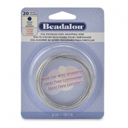 Beadalon wrapping wire Rostfreiem Stahl 20Gauge Bight Stainless Steel