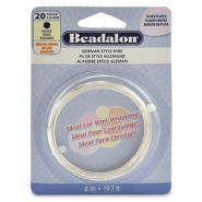 Beadalon German Style Wire 20Gauge round Silver