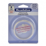 Beadalon German Style Wire 22Gauge square wire Silver