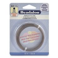 Beadalon German Style Wire 22Gauge round Antique Brass