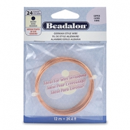 Beadalon German Style Wire 24Gauge round Copper