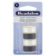 Beadalon Nymo Wire 0.3mm 4 Stück White, Black