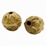 Metall Perlen TQ Deco Ball 10mm Antik bronze (nickelfrei)
