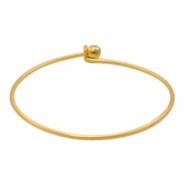 Metall Zubehör TQ Bangle Armband Matt Gold (nickelfrei)