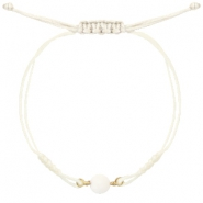 Armbänder Stone Off white-light gold