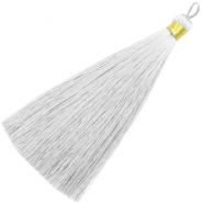 Perlen Quaste 13cm Light grey