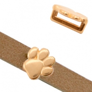 Metall Schieber DQ Animal Paw Ø10.2x2.2mm Rosegold (Nickelfrei)