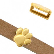 Metall Schieber DQ Animal Paw Ø10.2x2.2mm Gold (Nickelfrei)