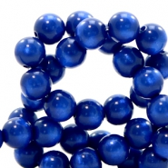 Super Polaris Perlen 8 mm rund Cobalt blue
