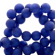 Polaris Perlen 6 mm rund matt Cobalt blue