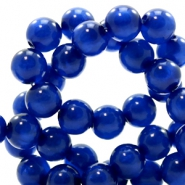 Polaris Perlen 6 mm rund pearl shine Cobalt blue