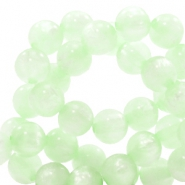 Polaris Perlen 10 mm rund pearl shine Relaxing green