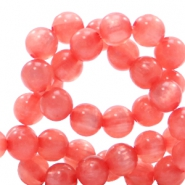 Polaris Perlen 6 mm rund pearl shine Salmon rose