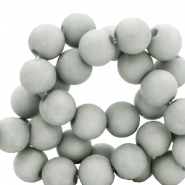 8 mm Acryl Perlen Mineral grey