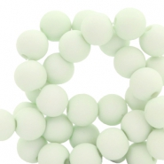 8 mm Acryl Perlen Fog green