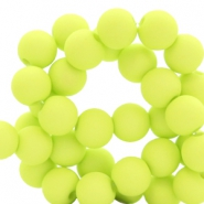 8 mm Acryl Perlen Lime green