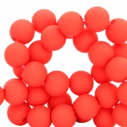6 mm Acryl Perlen Deep coral red