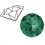 Swarovski Elements 1088-SS29 Chaton (6.2mm) Emerald green