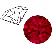 Swarovski Elements 1088-SS39 Chaton (8mm) Scarlet red