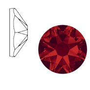Swarovski Elements 2088-SS34 flat back (7mm) Xirius Rose Light siam red