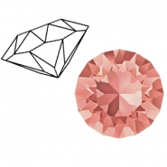 Swarovski Elements 1088-SS29 Chaton (6.2mm) Rose peach