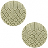 DQ Leder Cabochons 20mm Willow green
