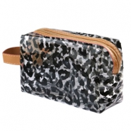 Make-up Taschen Leopard Transparent-black