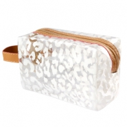 Make-up Taschen Leopard Transparent-white