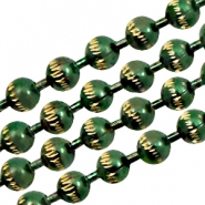 Kugelketten gold Line 3mm Green