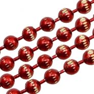 Kugelketten gold Line 3mm Red