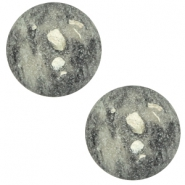 12 mm classic Cabochon Polaris Elements Rockstar Greenish grey