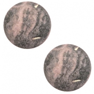12 mm classic Cabochon Polaris Elements Rockstar Powder pink-grey