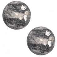 12 mm classic Cabochon Polaris Elements Rockstar Cream white-grey