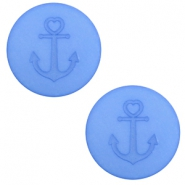 12 mm flach Cabochon Polaris Elements Anker River blue