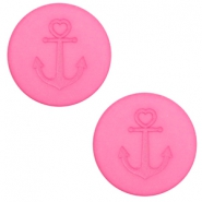 12 mm flach Cabochon Polaris Elements Anker Peonia pink