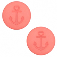 20 mm flach Cabochon Polaris Elements Anker Salmon rose