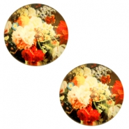 Cabochon Basic 20mm Flowers-multicolour red