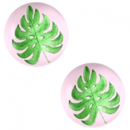 Cabochon Basic 12mm Tropical leaf-palace rose