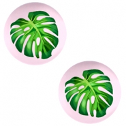Cabochon Basic 12mm Tropical palm leaf-palace rose