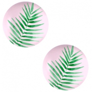 Cabochon Basic 12mm Fern leaf-palace rose