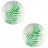 Cabochon Basic 12mm Fern leaf-light grey