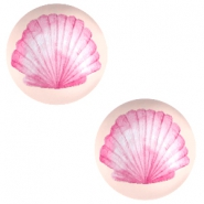 Cabochon Basic 20mm Shell-coral peach