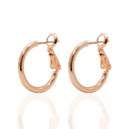 Ohrringe DQ Creolen 18 mm Rose gold beschichtet