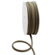 Gestepptes Elastisches Band Ibiza Metallic dark taupe