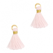 Perlen Quaste 1cm Gold-Blushing bride rose