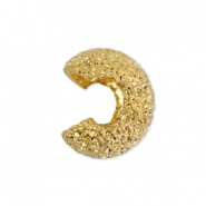 Beadalon Quetsch-Kaschierperlen Sparkle 5mm Gold