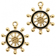 Basic quality Metall Anhänger wheel Gold-black