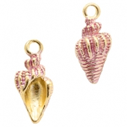 Basic quality Metall Anhänger shell Gold-pink